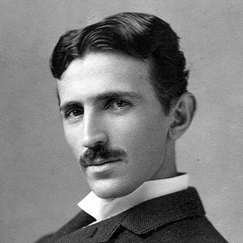 Nikola Tesla, aged 34, circa 1890; photo by Napoleon Sarony