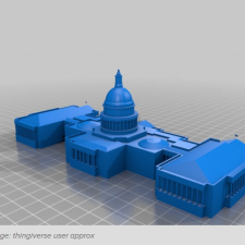3D image of the U.S. Capitol building from Thingiverse user approx